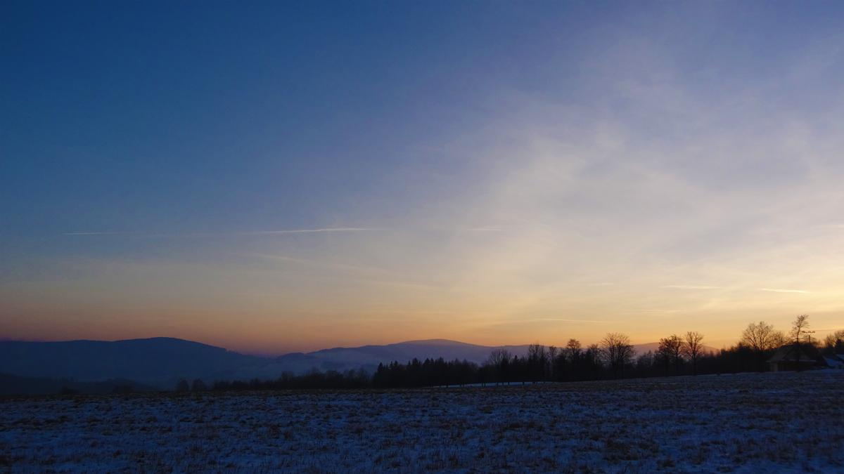 Západ slunce nad Vysokou